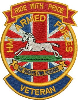 Ride with Pride Hussars embroidered Badge